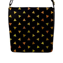 Shapes Abstract Triangles Pattern Flap Messenger Bag (l)
