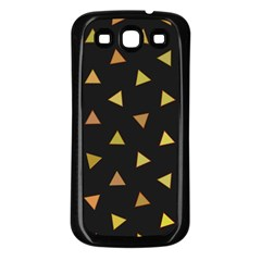 Shapes Abstract Triangles Pattern Samsung Galaxy S3 Back Case (Black)