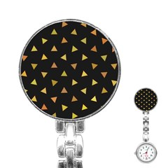 Shapes Abstract Triangles Pattern Stainless Steel Nurses Watch