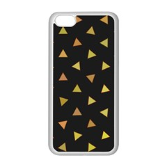 Shapes Abstract Triangles Pattern Apple iPhone 5C Seamless Case (White)