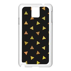 Shapes Abstract Triangles Pattern Samsung Galaxy Note 3 N9005 Case (white)