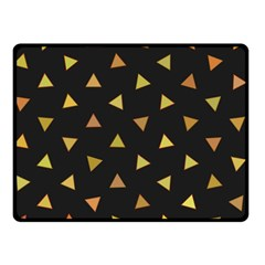 Shapes Abstract Triangles Pattern Double Sided Fleece Blanket (Small)