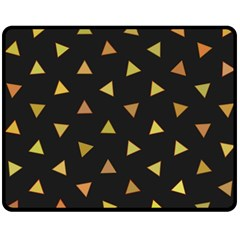 Shapes Abstract Triangles Pattern Double Sided Fleece Blanket (medium)