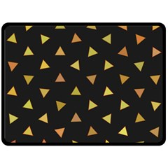 Shapes Abstract Triangles Pattern Double Sided Fleece Blanket (large)