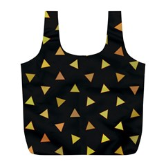 Shapes Abstract Triangles Pattern Full Print Recycle Bags (l)