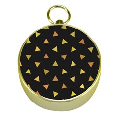 Shapes Abstract Triangles Pattern Gold Compasses