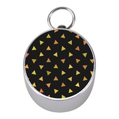 Shapes Abstract Triangles Pattern Mini Silver Compasses