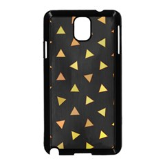 Shapes Abstract Triangles Pattern Samsung Galaxy Note 3 Neo Hardshell Case (Black)