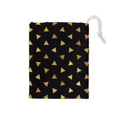 Shapes Abstract Triangles Pattern Drawstring Pouches (medium)