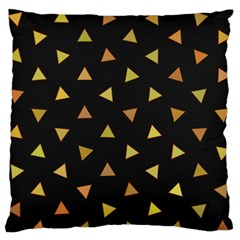 Shapes Abstract Triangles Pattern Large Flano Cushion Case (one Side)