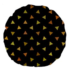 Shapes Abstract Triangles Pattern Large 18  Premium Flano Round Cushions