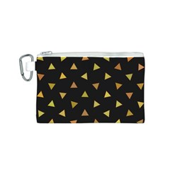 Shapes Abstract Triangles Pattern Canvas Cosmetic Bag (S)