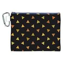 Shapes Abstract Triangles Pattern Canvas Cosmetic Bag (xxl)