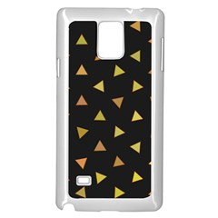 Shapes Abstract Triangles Pattern Samsung Galaxy Note 4 Case (White)