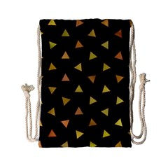Shapes Abstract Triangles Pattern Drawstring Bag (small)