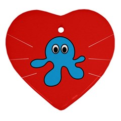 Creature Forms Funny Monster Comic Ornament (heart)