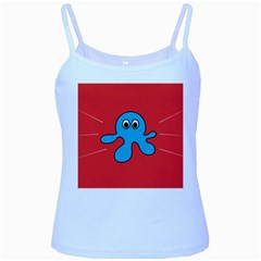 Creature Forms Funny Monster Comic Baby Blue Spaghetti Tank