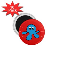 Creature Forms Funny Monster Comic 1 75  Magnets (10 Pack)