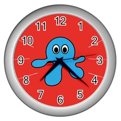 Creature Forms Funny Monster Comic Wall Clocks (Silver)