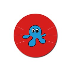 Creature Forms Funny Monster Comic Rubber Coaster (round)