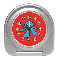 Creature Forms Funny Monster Comic Travel Alarm Clocks