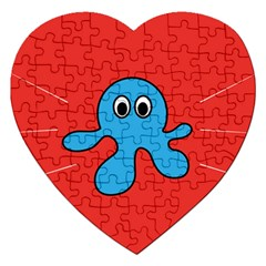 Creature Forms Funny Monster Comic Jigsaw Puzzle (heart)