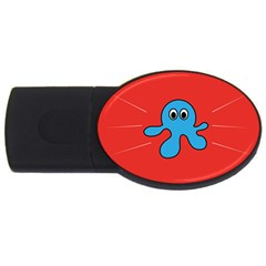 Creature Forms Funny Monster Comic Usb Flash Drive Oval (4 Gb)
