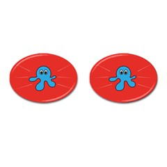 Creature Forms Funny Monster Comic Cufflinks (Oval)