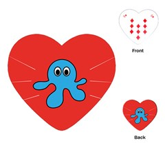 Creature Forms Funny Monster Comic Playing Cards (heart)