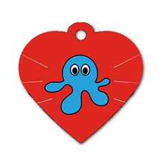 Creature Forms Funny Monster Comic Dog Tag Heart (One Side)