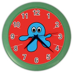 Creature Forms Funny Monster Comic Color Wall Clocks