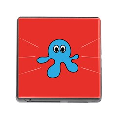 Creature Forms Funny Monster Comic Memory Card Reader (square)