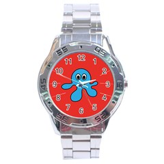 Creature Forms Funny Monster Comic Stainless Steel Analogue Watch
