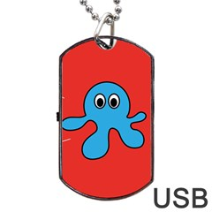 Creature Forms Funny Monster Comic Dog Tag Usb Flash (one Side)