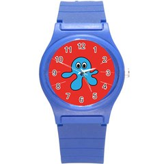 Creature Forms Funny Monster Comic Round Plastic Sport Watch (S)
