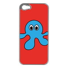 Creature Forms Funny Monster Comic Apple iPhone 5 Case (Silver)