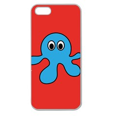 Creature Forms Funny Monster Comic Apple Seamless Iphone 5 Case (clear)
