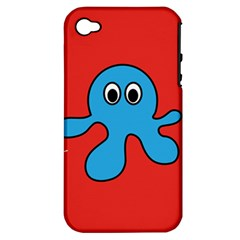 Creature Forms Funny Monster Comic Apple Iphone 4/4s Hardshell Case (pc+silicone)