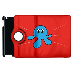 Creature Forms Funny Monster Comic Apple Ipad 2 Flip 360 Case