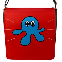 Creature Forms Funny Monster Comic Flap Messenger Bag (s)