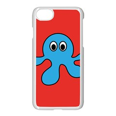 Creature Forms Funny Monster Comic Apple iPhone 7 Seamless Case (White)