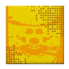 Texture Yellow Abstract Background Tile Coasters