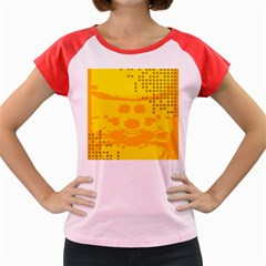 Texture Yellow Abstract Background Women s Cap Sleeve T Shirt