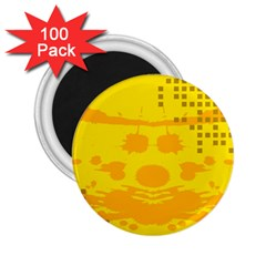 Texture Yellow Abstract Background 2.25  Magnets (100 pack)
