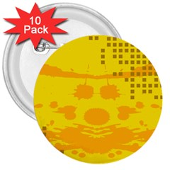 Texture Yellow Abstract Background 3  Buttons (10 pack)
