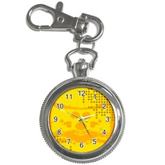 Texture Yellow Abstract Background Key Chain Watches