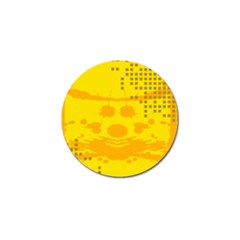 Texture Yellow Abstract Background Golf Ball Marker