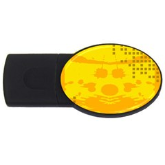 Texture Yellow Abstract Background Usb Flash Drive Oval (2 Gb)
