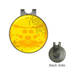 Texture Yellow Abstract Background Hat Clips with Golf Markers