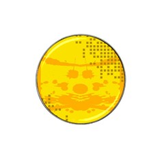 Texture Yellow Abstract Background Hat Clip Ball Marker (4 Pack)